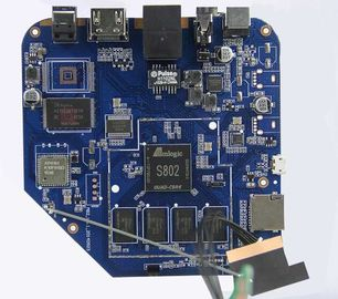 Cina SMT Printed Circuit Board Assembly Service Manufacturer Untuk STB Set Top Box FR-4 pemasok
