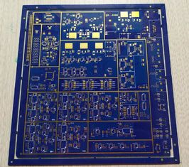 Cina 1.6mm 1 OZ Tebal Tembaga Multilayer Papan PCB 8 Layers FR-4 Biru Soldmask pemasok