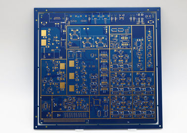 Cina Blue silkscreen 8L Immersion Gold Computer. Cetak Citcuit Board pemasok