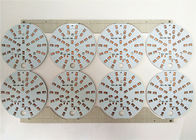 Durable LED Light PCB Board White Soldermask Aluminium Dengan ENIG / HASL Surface